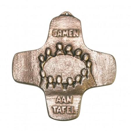 Bronzekreuz Samen aan Tafel