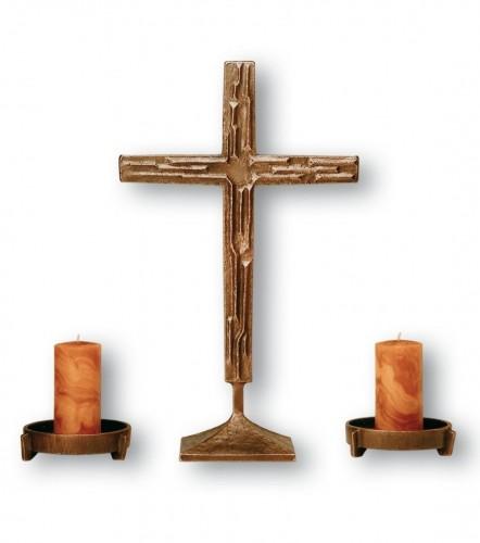Kreuzgarnitur aus Bronze - Größe 60 cm / 17 cm