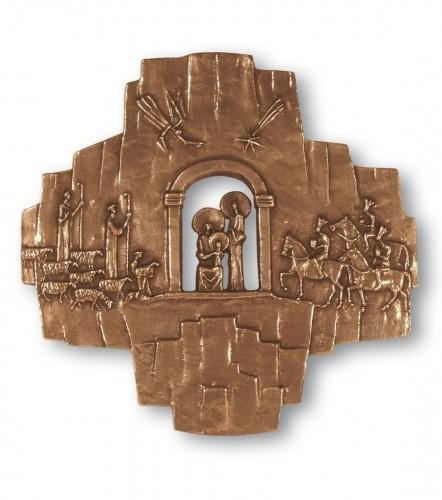 Krippenkreuz Bronze
