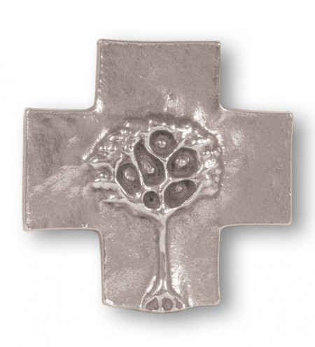 Schmuckkreuz Lebensbaum Neusilber