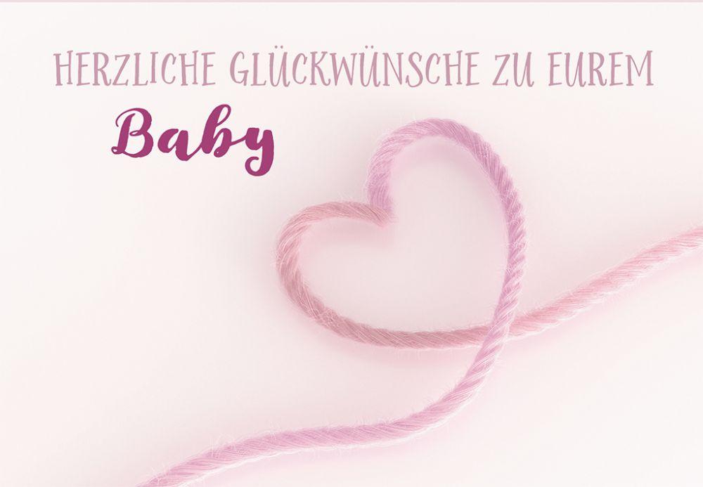 Gluckwunschkarte Zur Geburt Herzliche Gluckwunsche Zu Eurem Baby