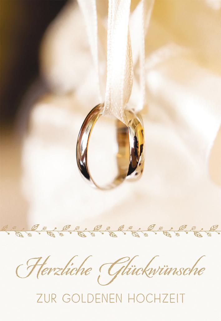 Gluckwunschkarte Herzliche Gluckwunsche Zur Goldenen Hochzeit