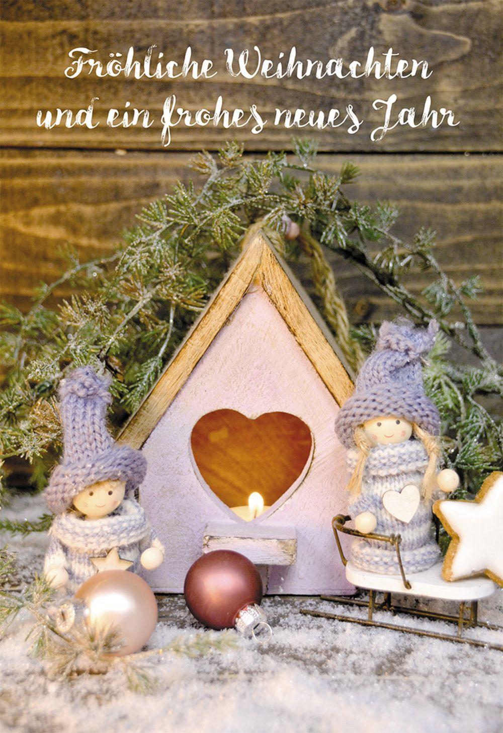 Bilder Weihnachten Neues Jahr.Glückwunschkarte Fröhliche Weihnachten Und Ein Frohes Neues Jahr