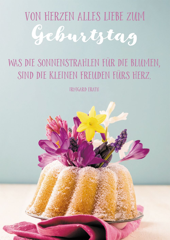 Postkarte Von Herzen Alles Liebe Zum Geburtstag