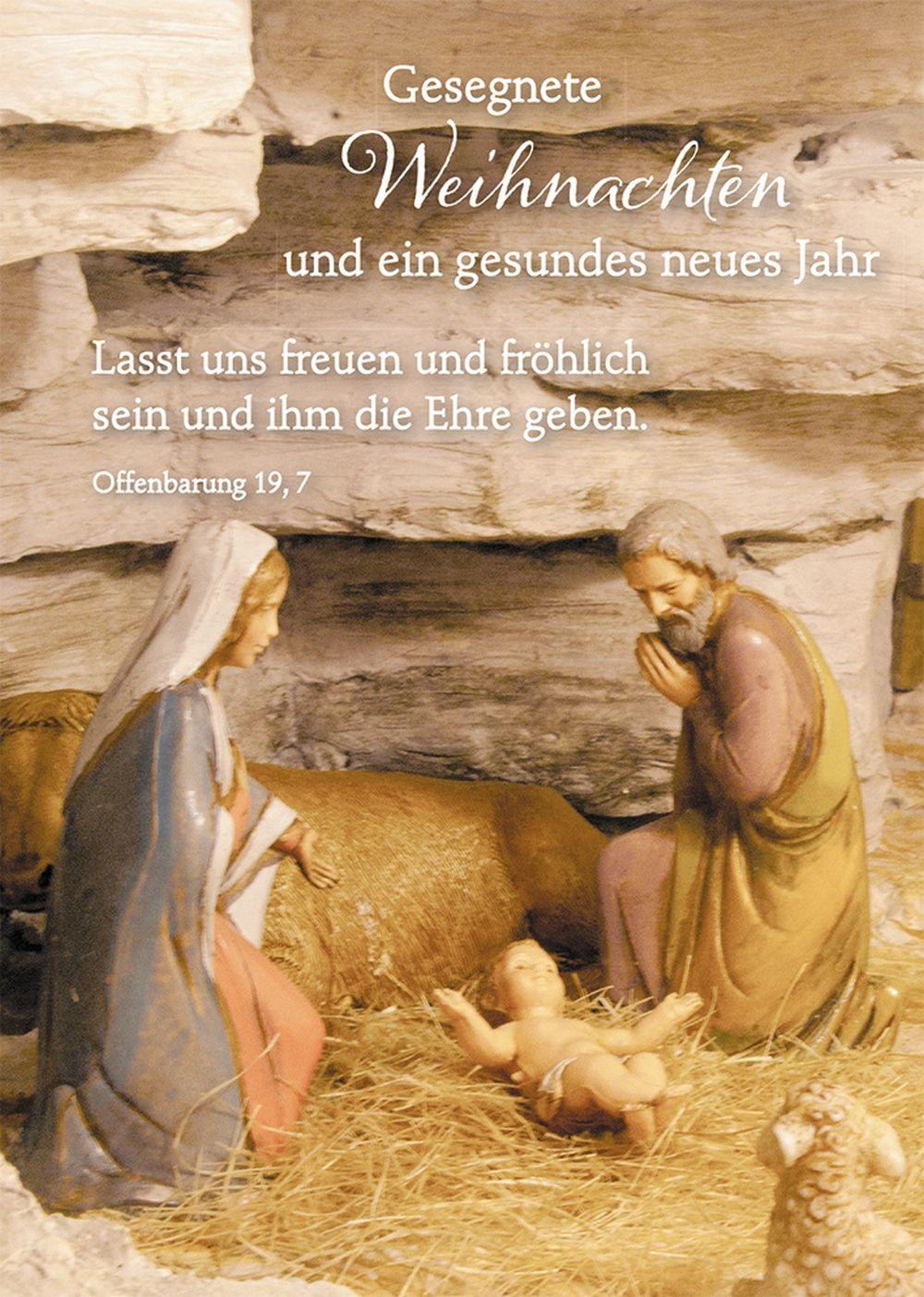 Postkarte Gesegnete Weihnachten und ein gesundes neues Jahr