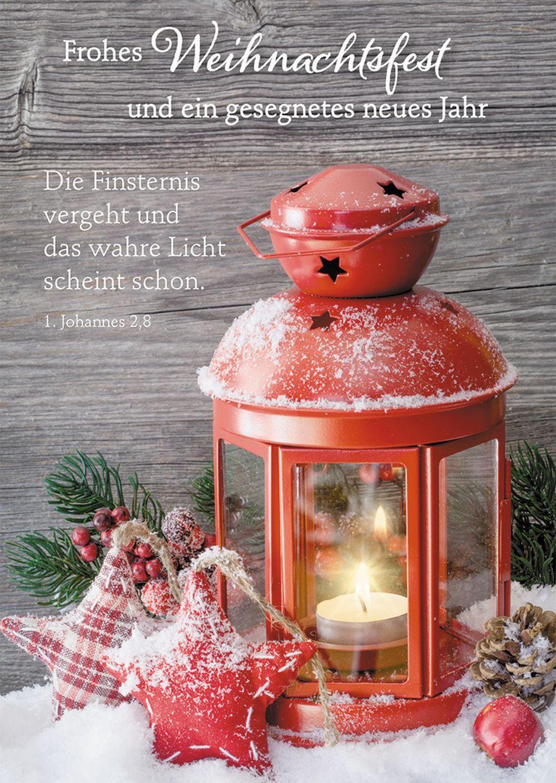 Postkarte Frohes Weihnachtsfest und ein gesegnetes neues Jahr
