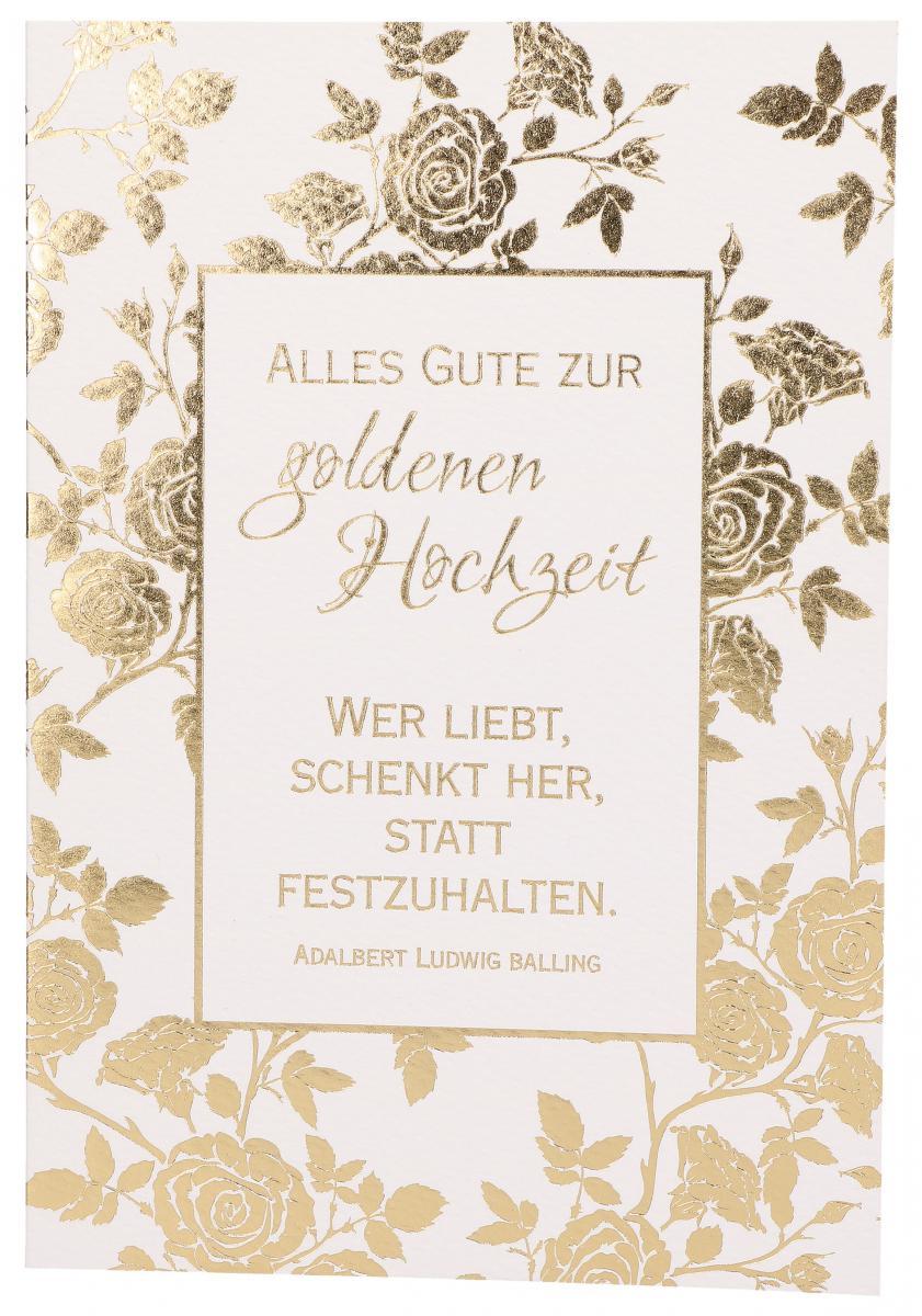 Gluckwunschkarte Alles Gute Zur Goldenen Hochzeit