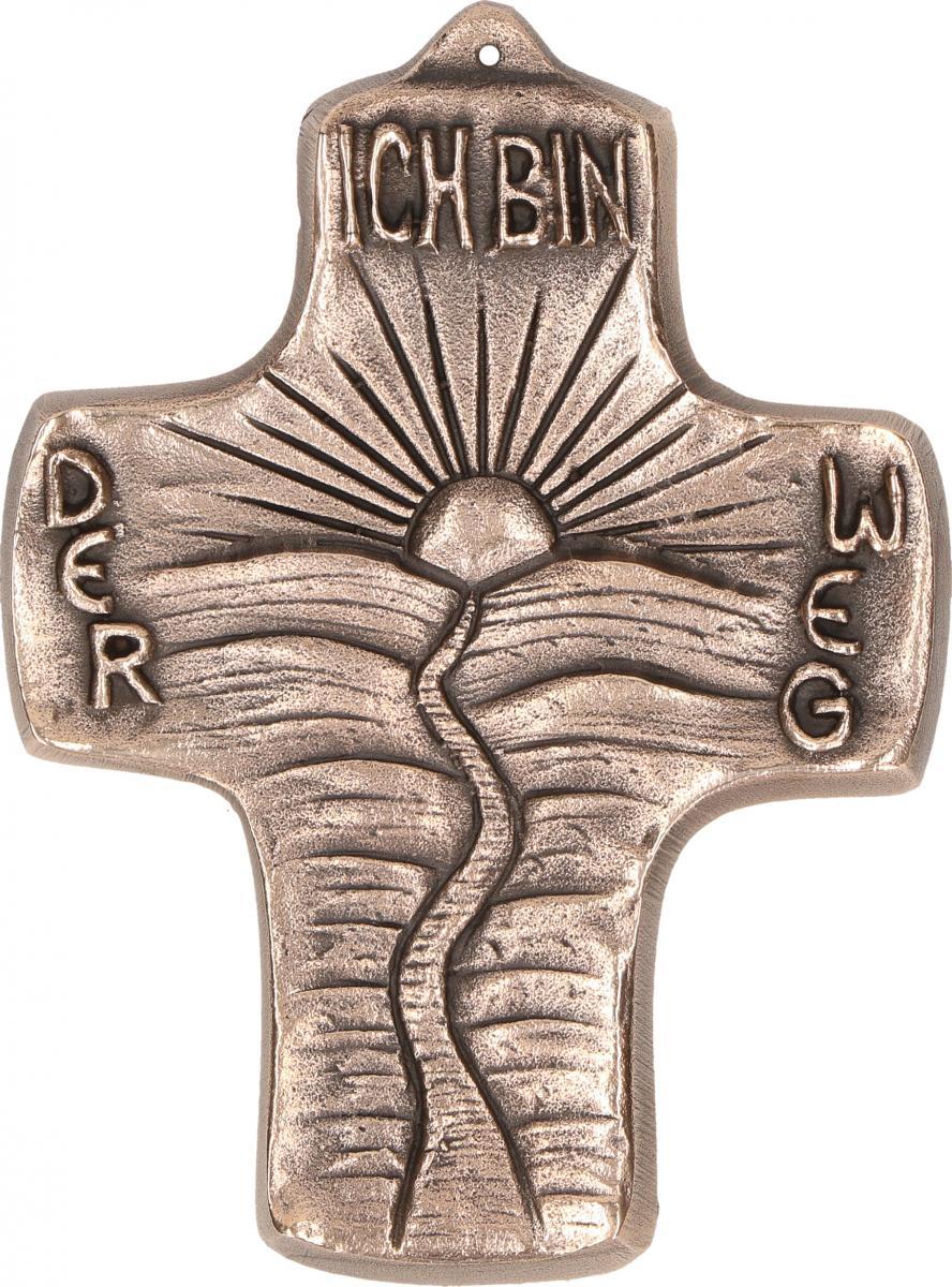 Kommunionkreuz aus Bronze Ich bin der Weg