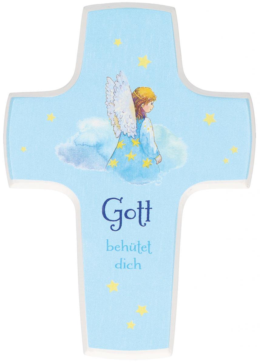 Kinderholzkreuz Gott behütet dich