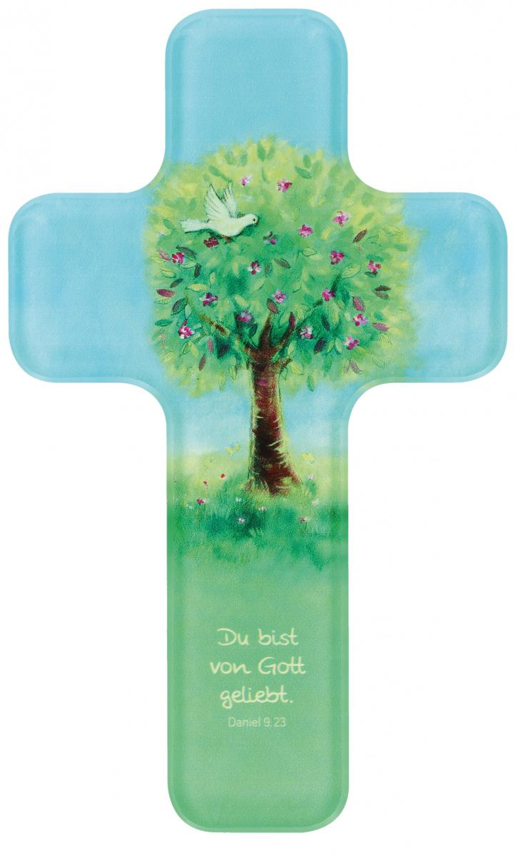 Kinderkreuz Lebensbaum aus Acrylglas