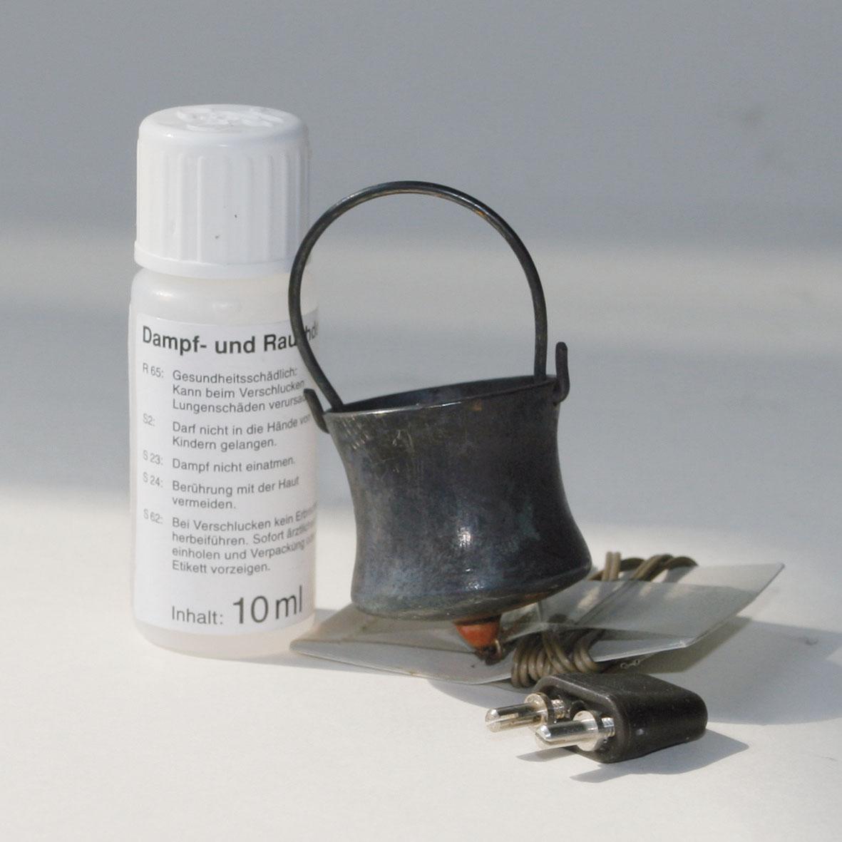 Krippen Zubehör | Rauchset: Kessel, groß, mit 10 ml Rauchdestillat