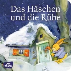 Das Häschen und die Rübe. Mini-Bilderbuch.
