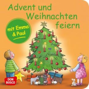 Advent und Weihnachten feiern mit Emma und Paul. Mini-Bilderbuch.