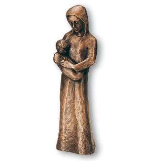 Figur Madonna mit Kind, Bronze
