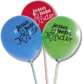 Luftballons - Jesus liebt Kinder