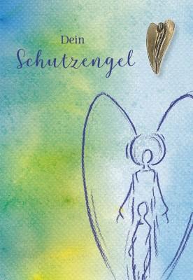Klappkarte mit Bronze-Engel Dein Schutzengel