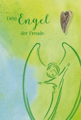 Klappkarte mit Bronze-Engel Dein Engel der Freude