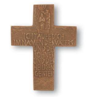 Taufkreuz aus Bronze