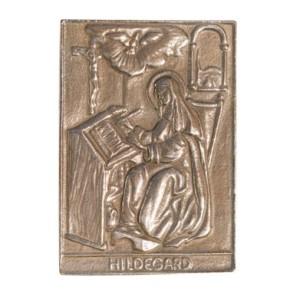 Bronzerelief Hildegard
