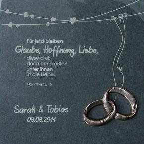 Schieferrelief: Geschenk zur Hochzeit - mit individueller Beschriftung