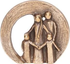 Bronzefigur Familie