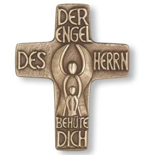 Schutzengelkreuz aus Bronze