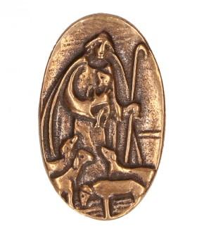 Bronzeplakette Der gute Hirt