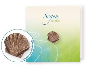 Bronzeplakette fürs Portemonnaie Muschel