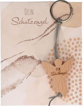 Holz-Schlüsselanhänger - Dein Schutzengel