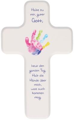"""Kinderkreuz """"Halte zu mir, guter Gott"""" – Geschenk zur Geburt und Taufe"""