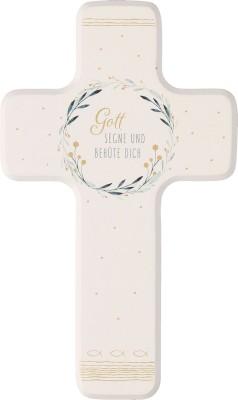 Kinderholzkreuz zur Taufe - Gott segne und behüte dich