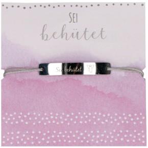 Textil-Armband - Sei behütet