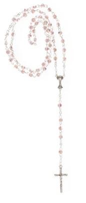 Rosenkranz mit rosa Glasperlen