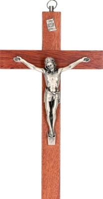 Holzkreuz mit Metallkorpus
