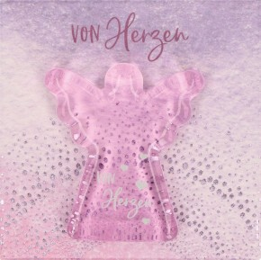 Engel-Glashandschmeichler - Von Herzen