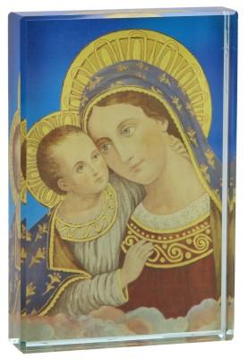 Glasquader - Maria mit Kind