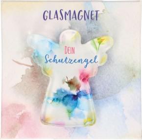 Engel-Glasmagnet - Dein Schutzengel