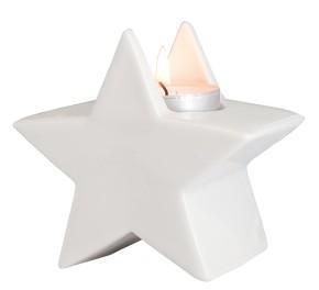 Porzellan-Figur Stern - mit Teelicht