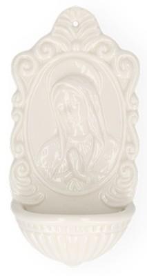Weihwasserbecken aus Porzellan Maria