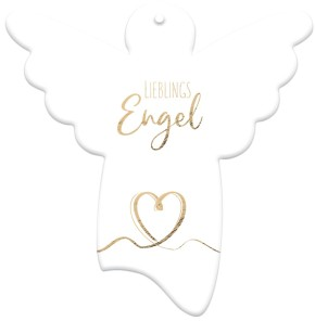 Engel-Anhänger aus Porzellan - Lieblingsengel