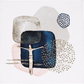 Porzellantafel mit Feinmetall-Korpus - Ich bin immer bei dir