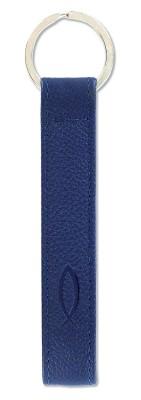 Leder-Schlüsselanhänger Fisch - dunkelblau