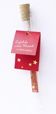 Geldgeschenk Erfüll dir einen Wunsch - zu Weihnachten