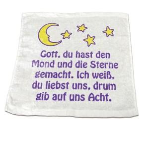 Handtuch - Stern mit Abendgebet - Alte Ausführung