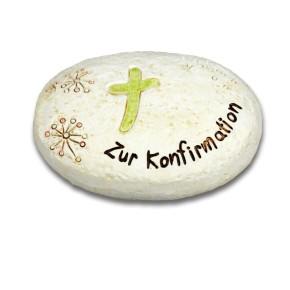 Geschenk-Stein - Konfirmation Kreuz