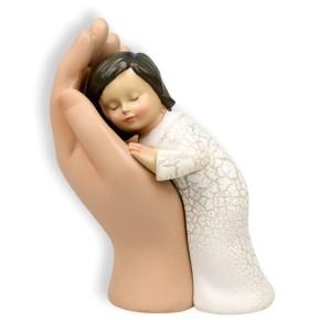 Skulptur - Mädchen in Hand
