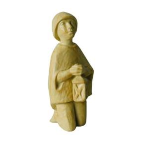 Krippenfigur Hirtenjunge kniend