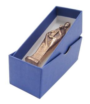 Madonna mit Kind, Handschmeichler, vollplastisch, in blauer Geschenkbox