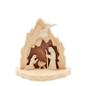 Holz-Krippe Heilige Famile