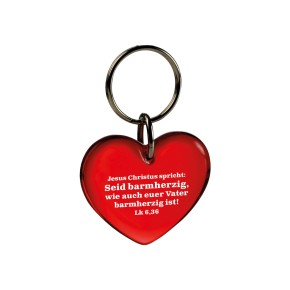 Schlüsselanhänger Herz - Jahreslosung 2021